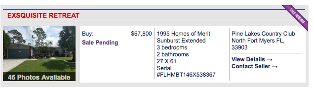 Photos on MHVillage home listing