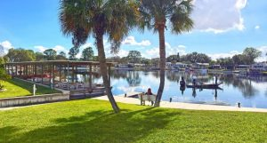 Covered boat slips at Mid Florida Lakes