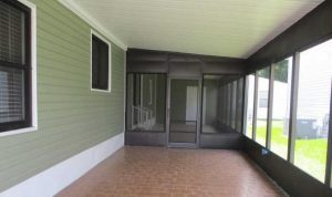 Carport with screened porch