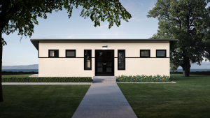 Simple lines in new modular construction