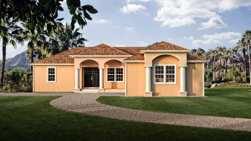 Spanish bungalow design for new modular home