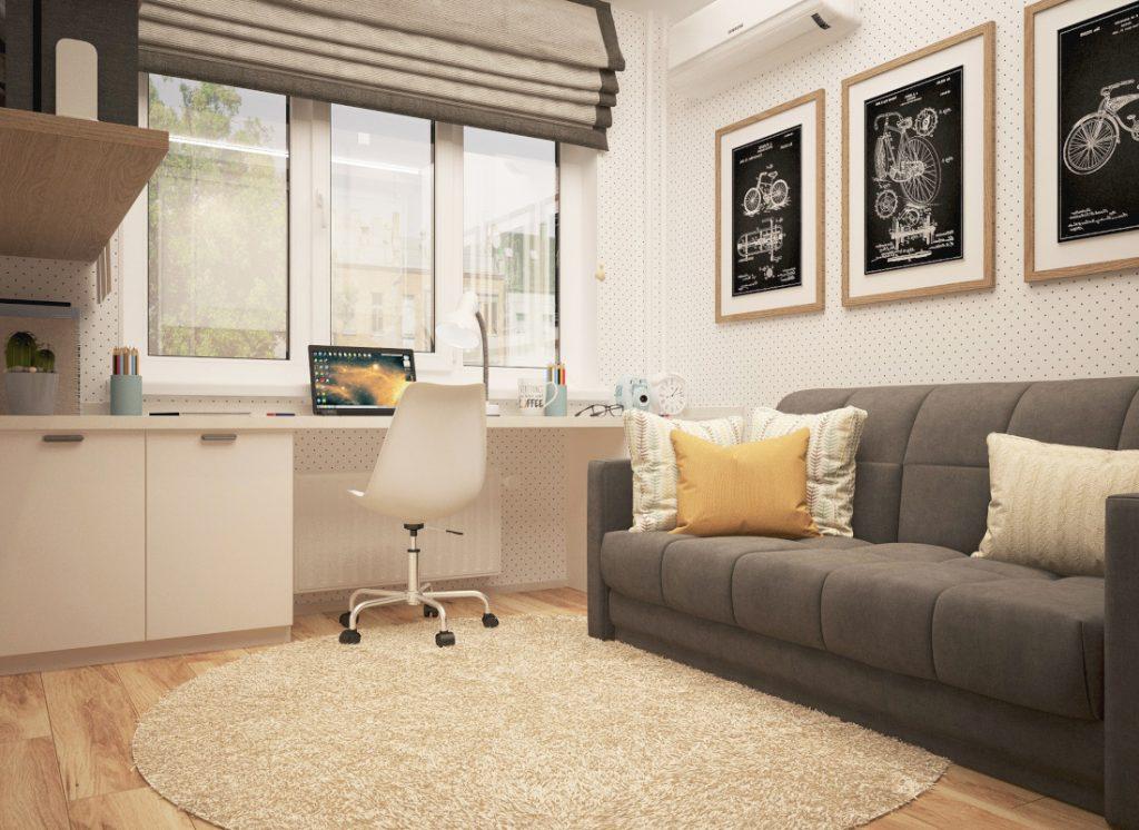 Simple space furniture rug