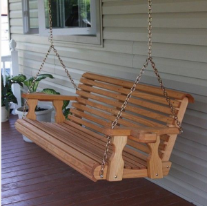 porch swing mobile home curb appeal