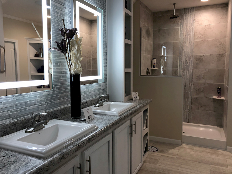 Modern Mobile Homes bathroom