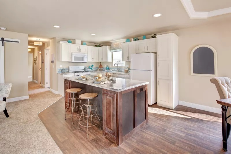 2 bedroom mobile home kitchen