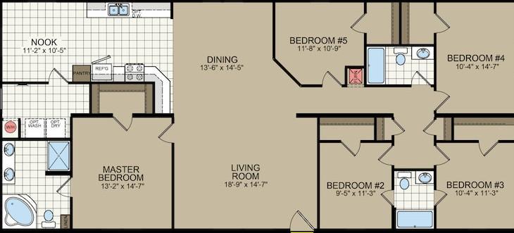 5 bedroom mobile home floor plan champion